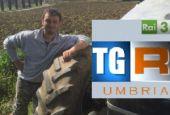 Giovane agricoltore di Marsciano a Italia in campo