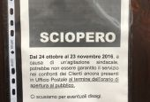 Poste Todi: avviso di sciopero