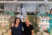 Tre gemelli nati all'ospedale di Perugia