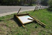 Distrutto il cartello dell'antica Via Amerina