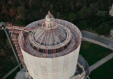 Todi: droni in volo sul Tempio della Consolazione