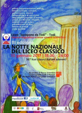 """Notte nazionale del liceo: lo """"Jacopone"""" di Todi c'è"""