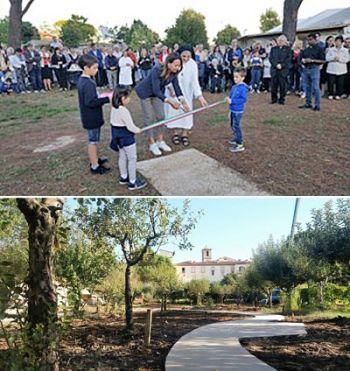 Inaugurato il parco sensoriale al Centro Speranza