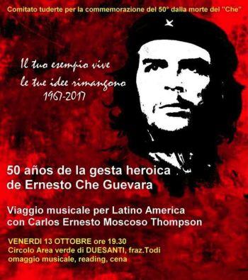 A Duesanti serata in ricordo di Che Guevara