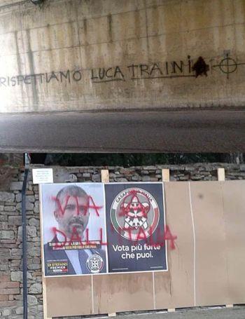 Todi: scritte indegne e manifesti elettorali deturpati