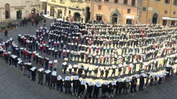Todi: 400 studenti in piazza per il Pi greco Day