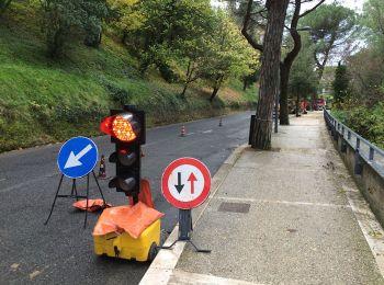 Lavori in corso sulla strada delle cerquette