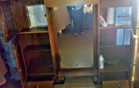 Specchiera armadietto, artigianale, per bagno