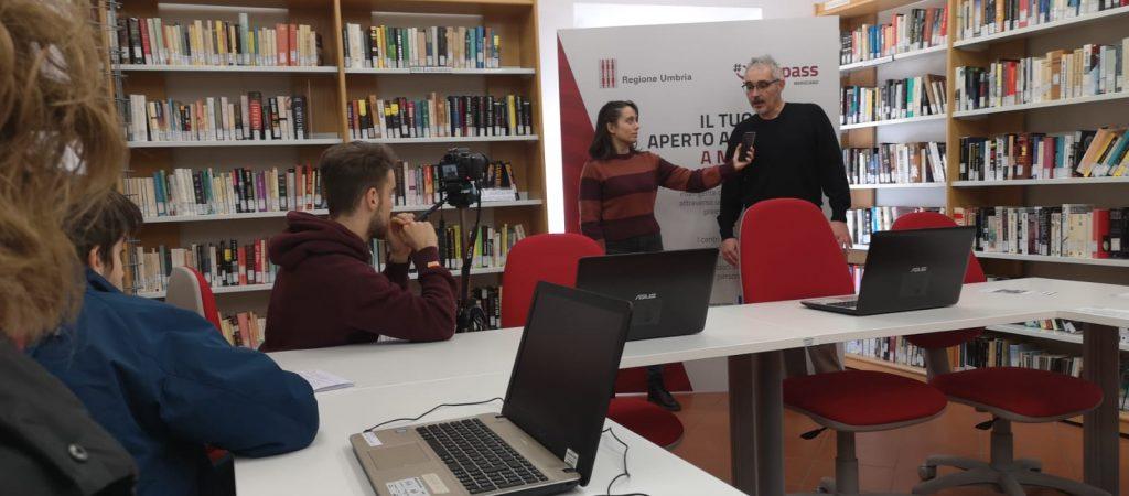 DigiPASS_Marsciano_Studenti_Liceo Scientifico_BIblioteca comunale
