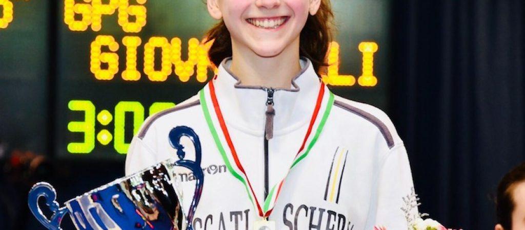 Giovannelli vicempionessa under 14 sciabola Allieve 2018