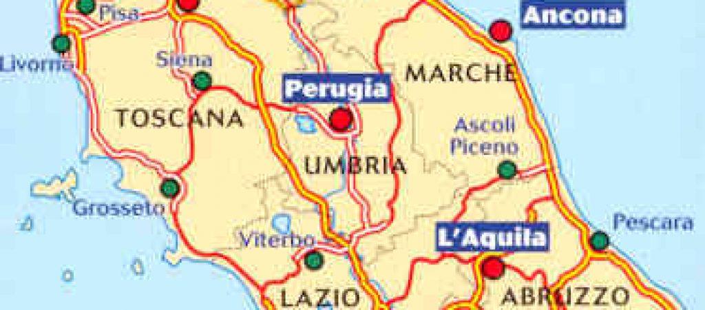 Cartina Abruzzo Umbria.L Umbria Tace Sulla Questione Centro Italia Iltamtam It Il Giornale Online Dell Umbria